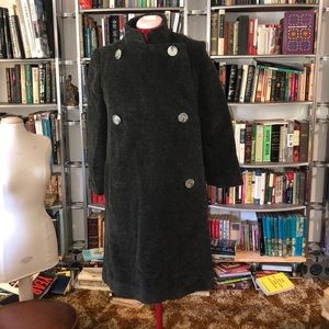 Vintage double breasted jacket w/mandarin collar